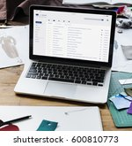 Stock photo email inbox message list online interface 600810773