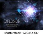 blue glitter particles... | Shutterstock .eps vector #600815537