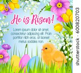 easter poster and he is risen... | Shutterstock .eps vector #600820703