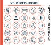 set of 25 universal editable... | Shutterstock .eps vector #600822287