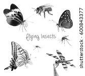 black and white illustration of ... | Shutterstock . vector #600843377