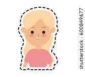 woman cute cartoon icon image