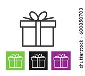 gift box  icon. | Shutterstock . vector #600850703
