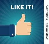 finger up vector illustration... | Shutterstock .eps vector #600888893