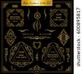 vector boho  ethnic style...   Shutterstock .eps vector #600895817