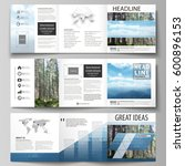 set of business templates for... | Shutterstock .eps vector #600896153