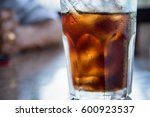 iced cola with water drops... | Shutterstock . vector #600923537