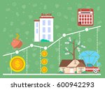 financial investment diagram in ... | Shutterstock .eps vector #600942293