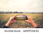 woman hand using mobile phone... | Shutterstock . vector #600953633