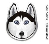 the dog of breed husky.... | Shutterstock .eps vector #600977093