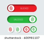 design sliders and buttons red... | Shutterstock .eps vector #600981107