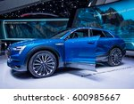 Small photo of Frankfurt, Germany - September 22, 2015: Audi e-tron concept car presented on display in Frankfurt. Germany