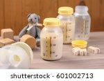 bottle of mother breast milk ...   Shutterstock . vector #601002713