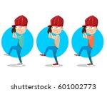 set of vector baseball players | Shutterstock .eps vector #601002773