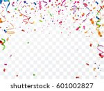 colorful confetti on white... | Shutterstock .eps vector #601002827