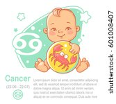 children's horoscope icon. kids ... | Shutterstock .eps vector #601008407