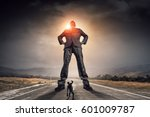 he is big boss and has power .... | Shutterstock . vector #601009787