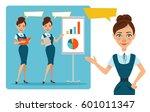 set of business women... | Shutterstock . vector #601011347