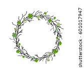 clover garland with wreath from ... | Shutterstock .eps vector #601017947
