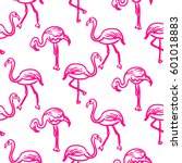 Flamingo Hot Pink Outline...