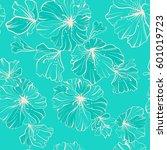seamless pattern beige flowers...   Shutterstock .eps vector #601019723