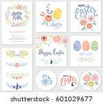 vector happy easter templates... | Shutterstock .eps vector #601029677
