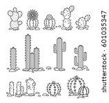 vector illustration cacti in... | Shutterstock .eps vector #601035347