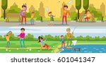 summer leisure activity... | Shutterstock .eps vector #601041347
