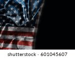 usa flag background with... | Shutterstock . vector #601045607
