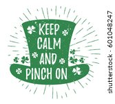 st. patrick's day quote... | Shutterstock .eps vector #601048247