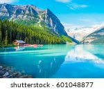 beautiful nature of lake louise ... | Shutterstock . vector #601048877