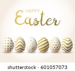 happy easter background with... | Shutterstock .eps vector #601057073