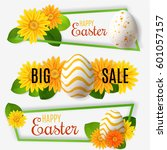 happy easter banners set with...