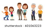 set generations couples holding ... | Shutterstock .eps vector #601063223
