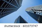 skyscrapers in tokyo  japan.... | Shutterstock . vector #601073747