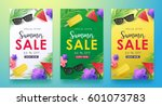 summer sale background layout... | Shutterstock .eps vector #601073783