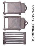 set of cast iron doors for... | Shutterstock . vector #601076003