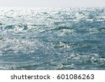 waves on the black sea coast  a ... | Shutterstock . vector #601086263