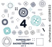 sacred geometry and numerology... | Shutterstock .eps vector #601089833