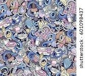 cartoon cute doodles hand drawn ... | Shutterstock .eps vector #601098437