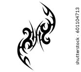 vector tribal tattoo designs.... | Shutterstock .eps vector #601104713