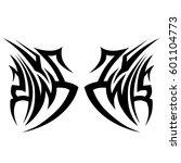 vector tribal tattoo designs.... | Shutterstock .eps vector #601104773