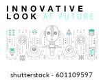 trendy innovation systems... | Shutterstock .eps vector #601109597