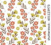 pattern with cute flowers. can... | Shutterstock .eps vector #601123973