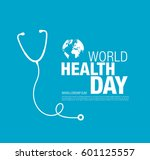 world health day concept poster | Shutterstock .eps vector #601125557