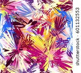 rainbow seamless pattern with... | Shutterstock .eps vector #601132553