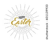 happy easter inscription with... | Shutterstock .eps vector #601139933