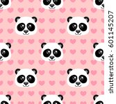 seamless pattern with cute... | Shutterstock .eps vector #601145207