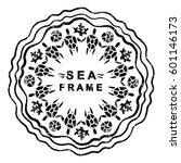 ocean theme. graphic circular... | Shutterstock .eps vector #601146173
