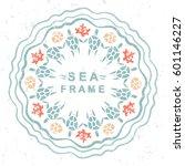 ocean theme. colored circular... | Shutterstock .eps vector #601146227